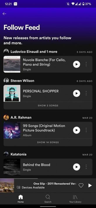 طرح Spotify طريقة أفضل لعرض موسيقى جديدة للفنانين الذين تتابعهم (محدث) 2