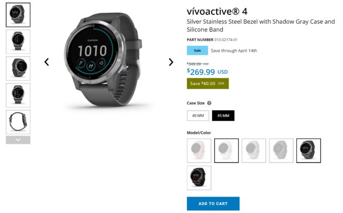 Hiển thị Vívoactive 4 Garmin 4S đang được bán với giá chỉ $ 270 bây giờ (giảm $ 80) 1
