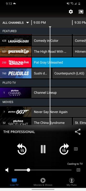 أحدث تحديث لـ Pluto TV يجلب واجهة جديدة ، يسقط صورة داخل صورة وإعدادات جودة البث 5