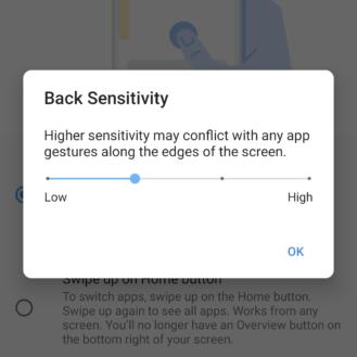 يضيف Android 11 DP3 خيارات حساسية جديدة للتنقل بالإيماءات 1
