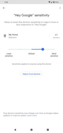 """يتيح لك Google Home أخيرًا ضبط حساسية الاستماع """"OK Google"""" 4"""