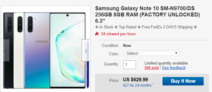 Grab A Dual Sim Galaxy Note10 At Its Lowest Price Yet Of 630 120 Off Right Now