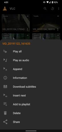 VLC Pilotunun son versiyası alt naviqasiyaya əlavə edir və Paylaş menyusuna əlavə olunur 5