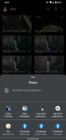 VLC Pilotunun son versiyası alt naviqasiyaya əlavə edir və Paylaş menyusuna əlavə olunur 6