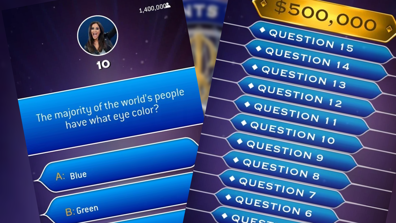 Millionaire Live is giving you 8 chances to win up to $1 million