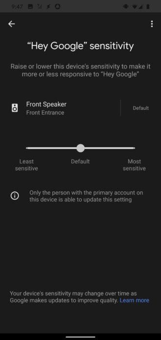 """يتيح لك Google Home أخيرًا ضبط حساسية الاستماع """"OK Google"""" 1"""