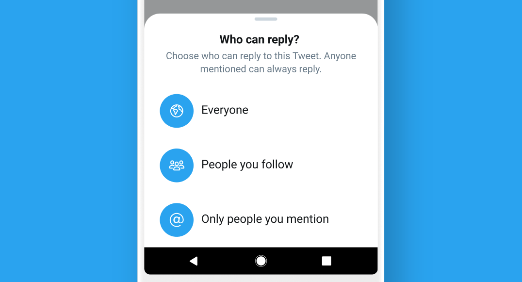 Twitter test lets users limit who can reply to their tweets