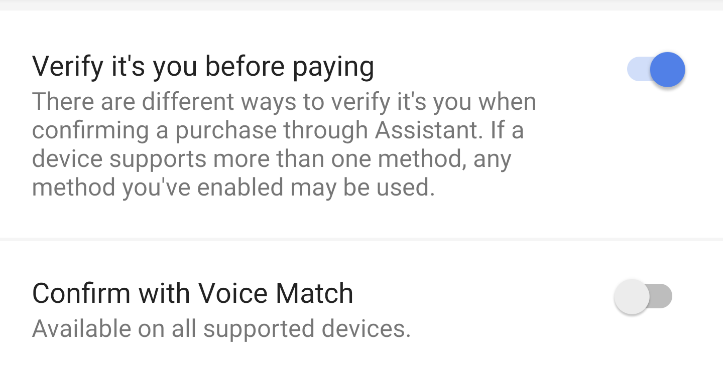 Now just 'Speak to Pay' via Google assistant