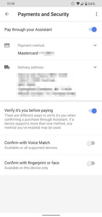Google Assistant gets new 'Confirm with Voice Match' setting for payments 1