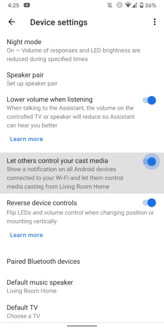 كيفية الحفاظ على بعض الخصوصية عند استخدام Google Assistant مكبر الصوت 8