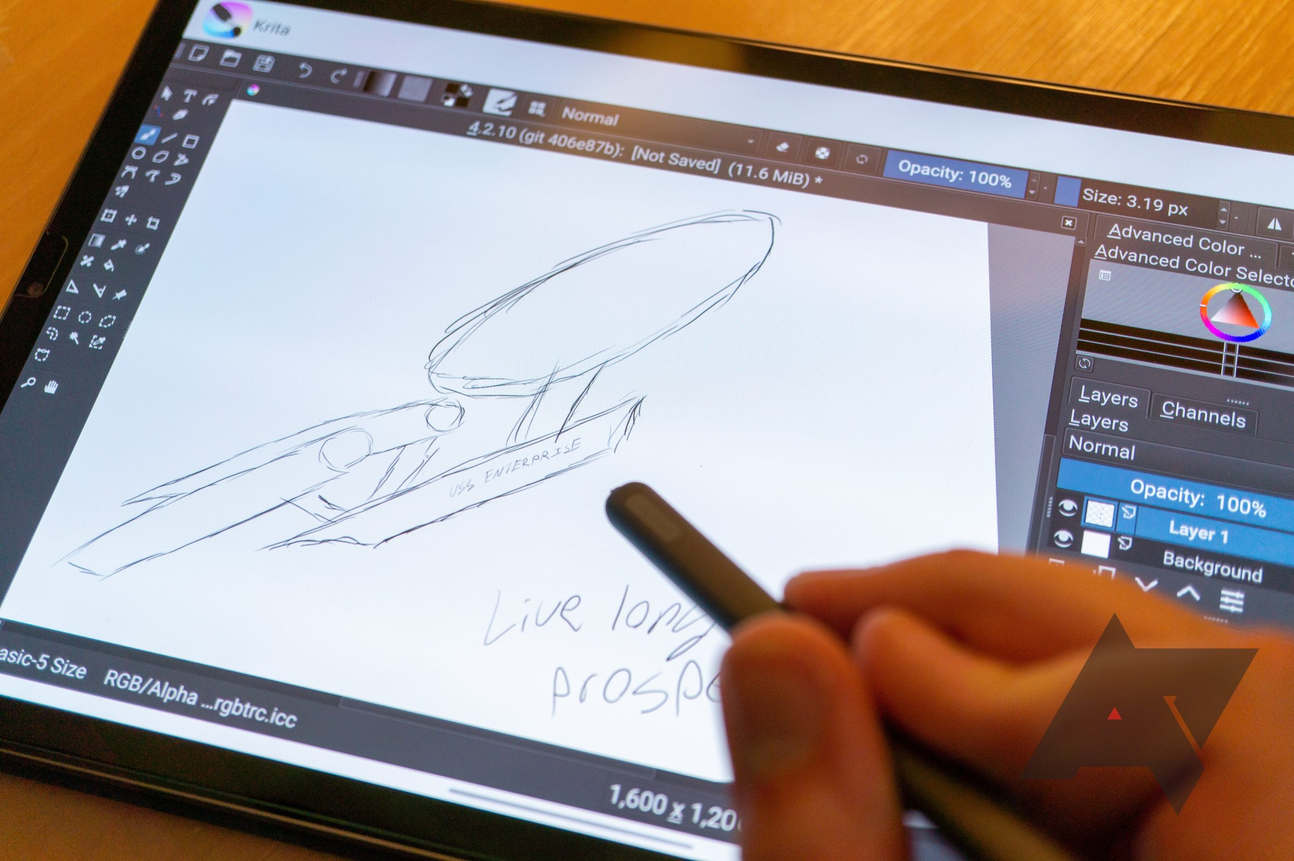 Krita, a desktop-class digital painting application, arrives on Android and Chrome OS