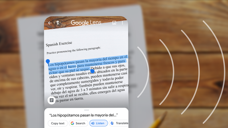 Google Lens gets text-to-speech, copying text to a computer, and more