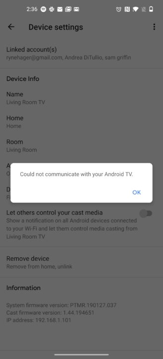 Android TV gets speaker group support and fixes broken cast notification setting 5