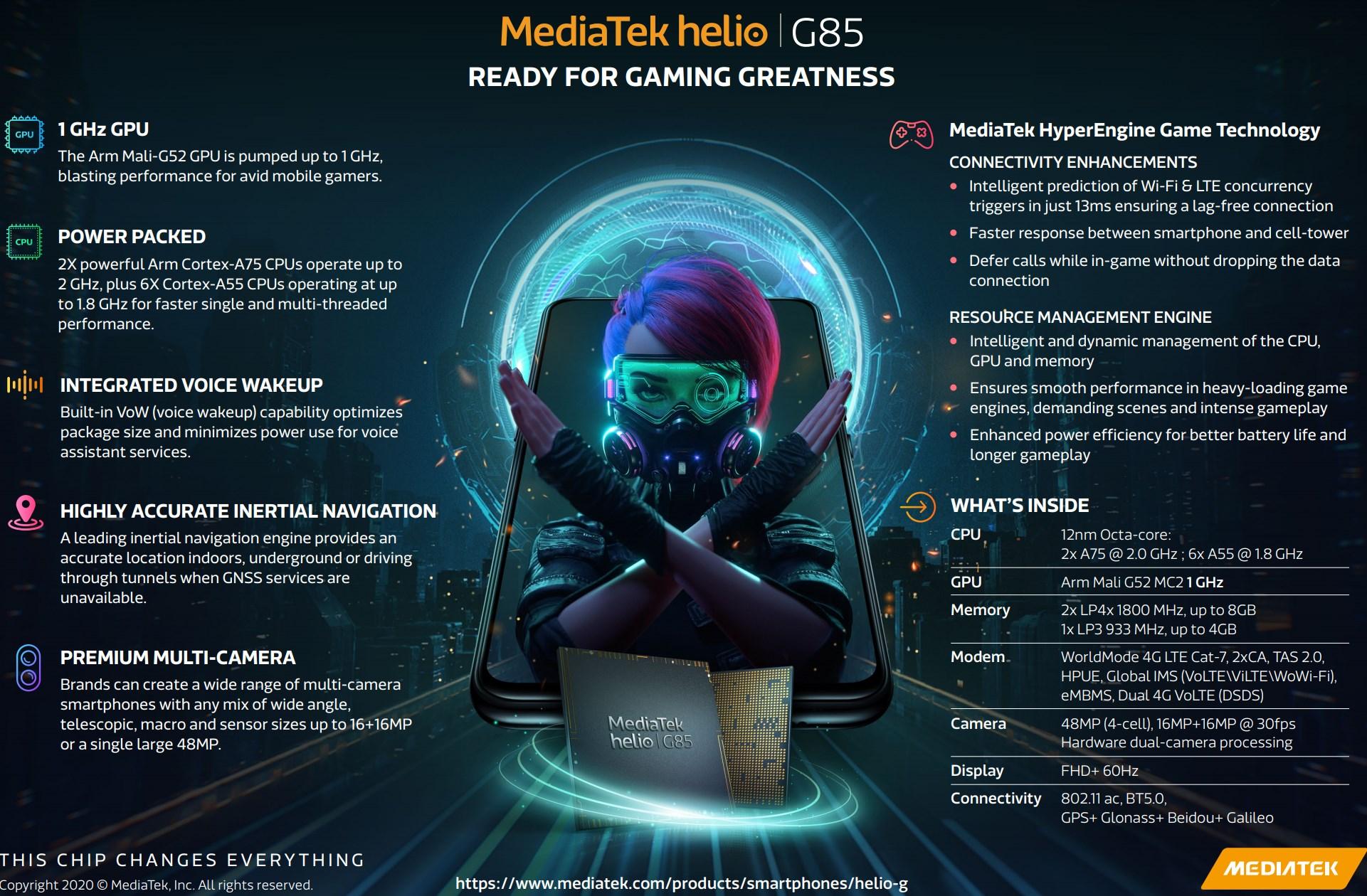 Презентация чипа Mediatek G85