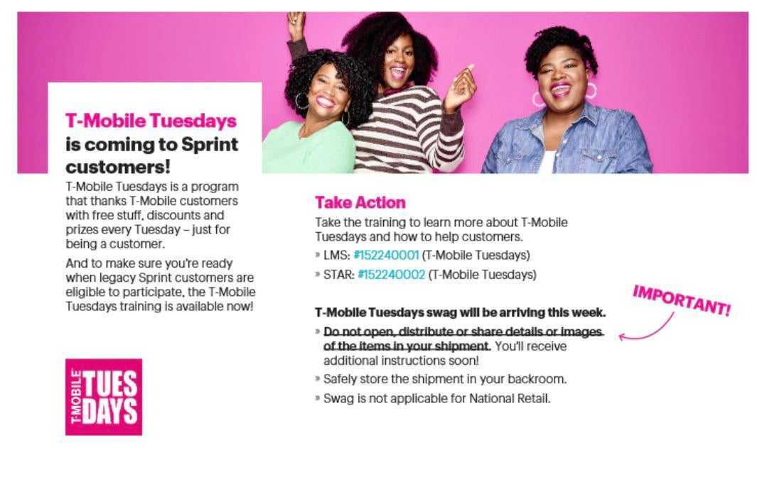 T Mobile Tuesdays Are Coming To Sprint Next Week