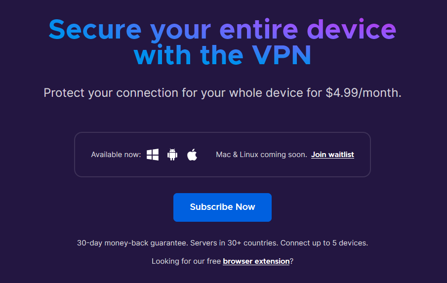 Mozilla's Paid VPN Service Launches Soon for $5 Per Month