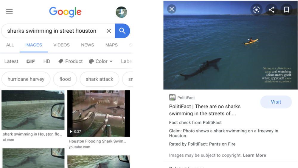 Google adds fact-check to images