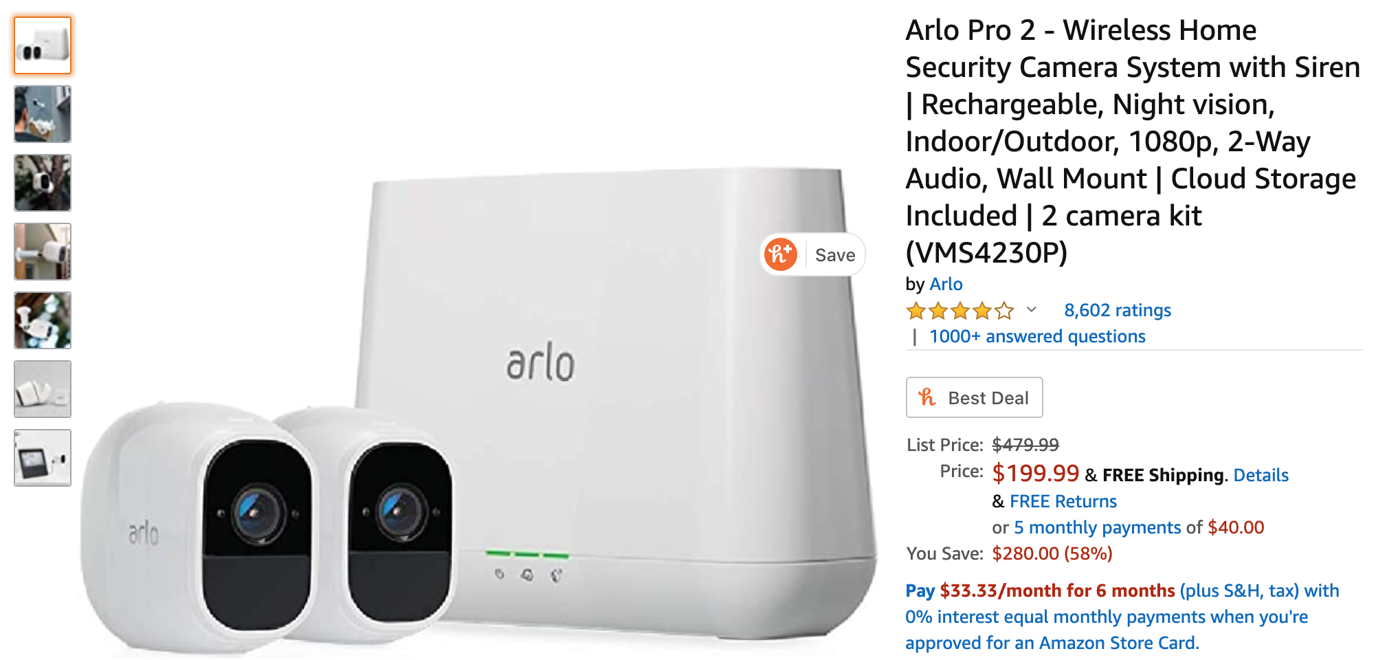 Pick Up An Arlo Pro 2 Two Camera Kit For Just 200 From Amazon