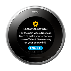 Seasonal Savings coming to all Nest thermostats to help save on energy bills
