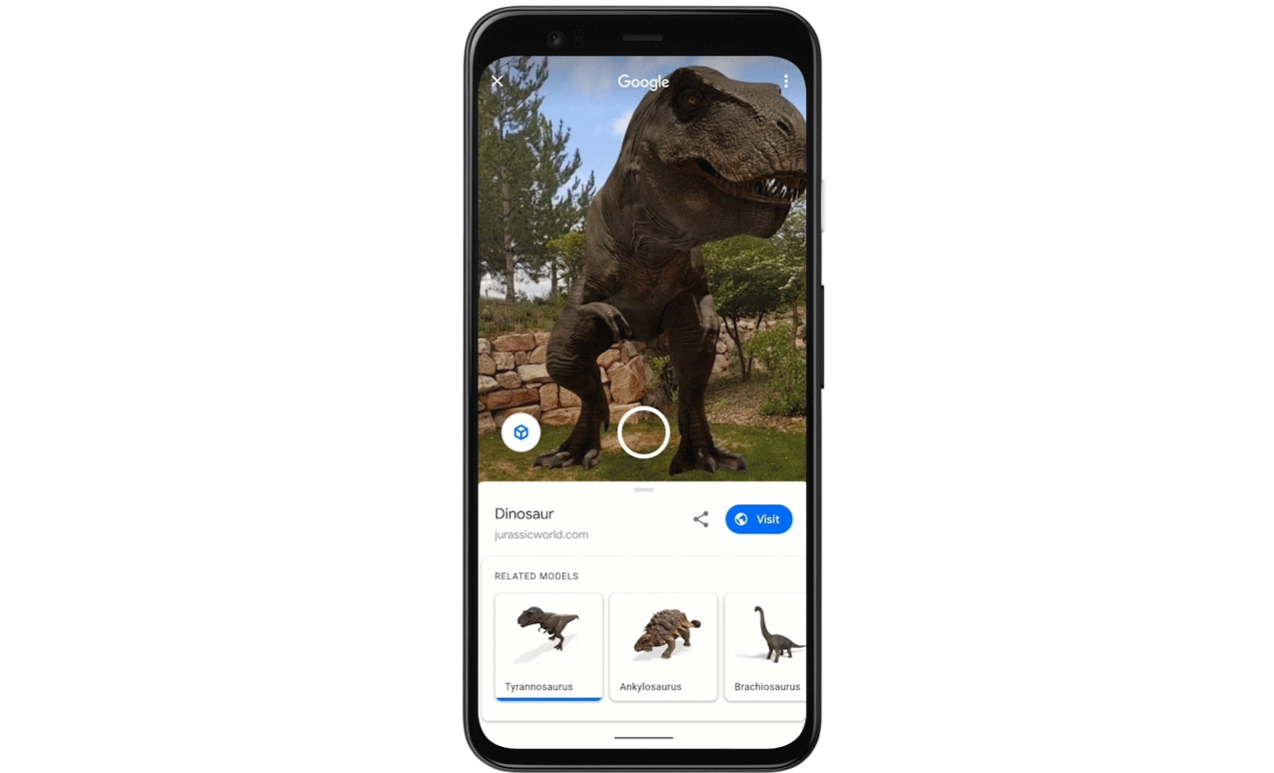 Google Search Brings Dinosaurs to Life Using Augmented Reality