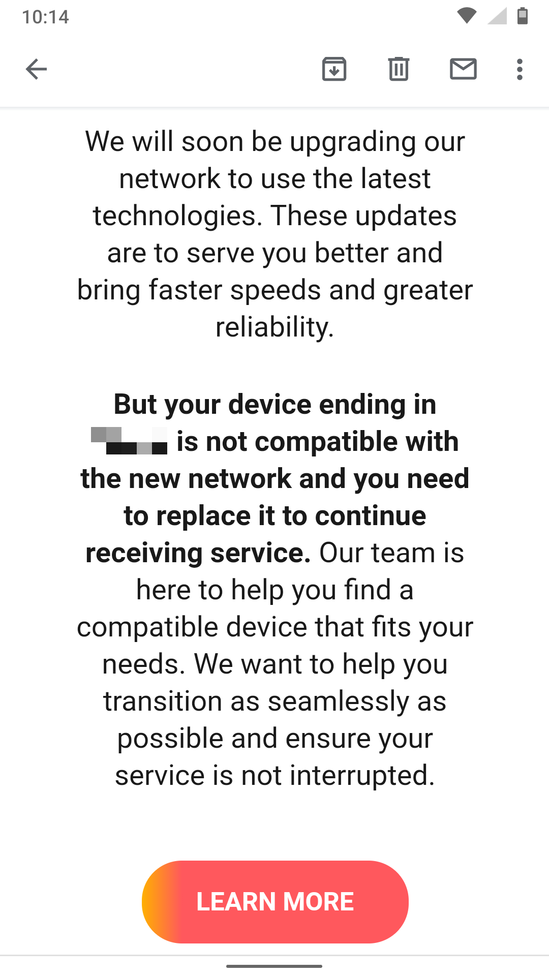 At T Is Scaring Customers Into Buying New Phones With A Misleading Email