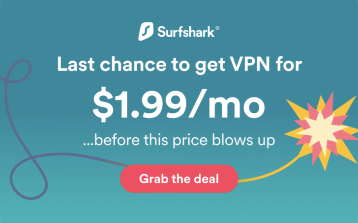 Subscribe to Surfshark VPN for two years and save 83% on service (Sponsored) 5