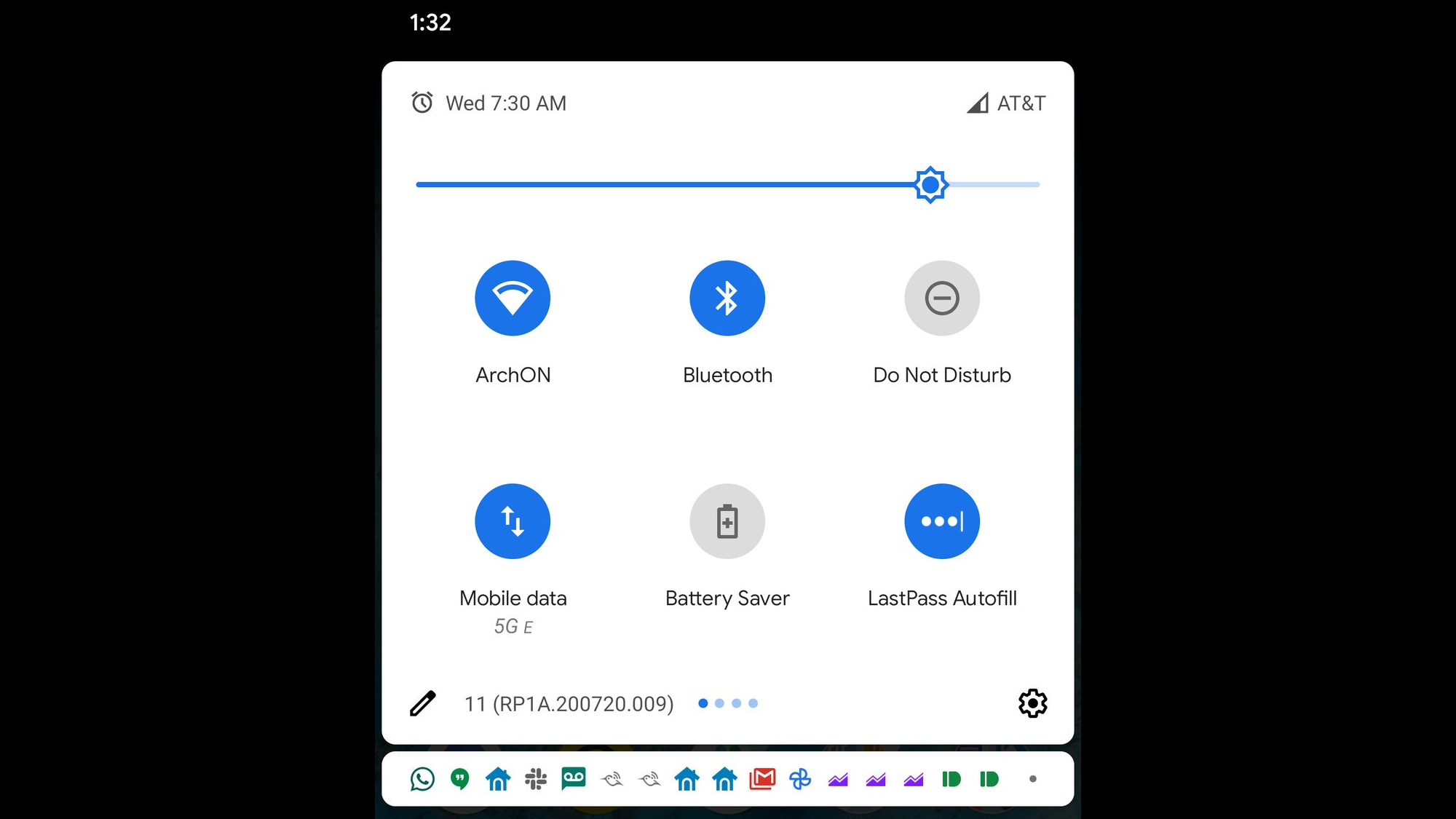 android 11 quick settings tiles 6 rows.'
