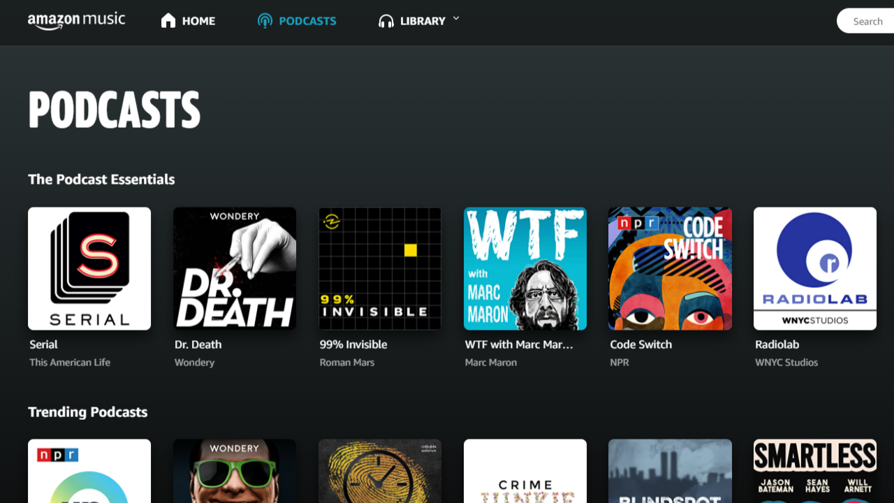 Amazon Music Adds Free Podcast Streaming