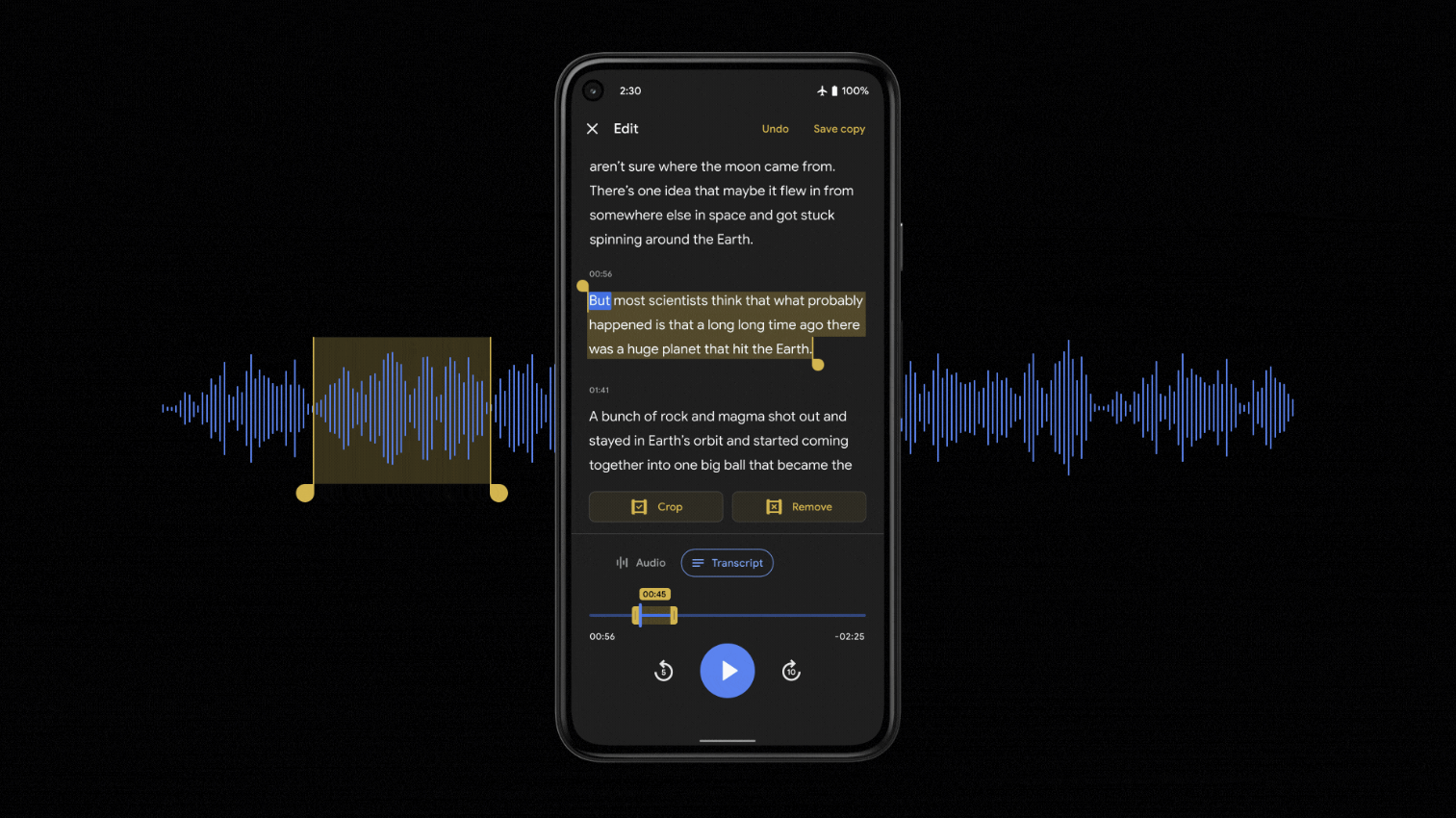 Google Recorder app with new transcription-based editor now rolling out (APK Download)