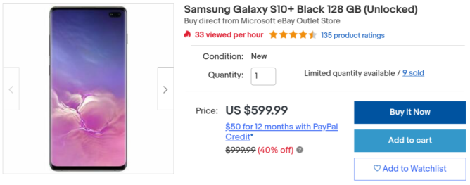 Snag a brand-new Samsung Galaxy S10+ for its lowest price ever of $600 ($250 off)
