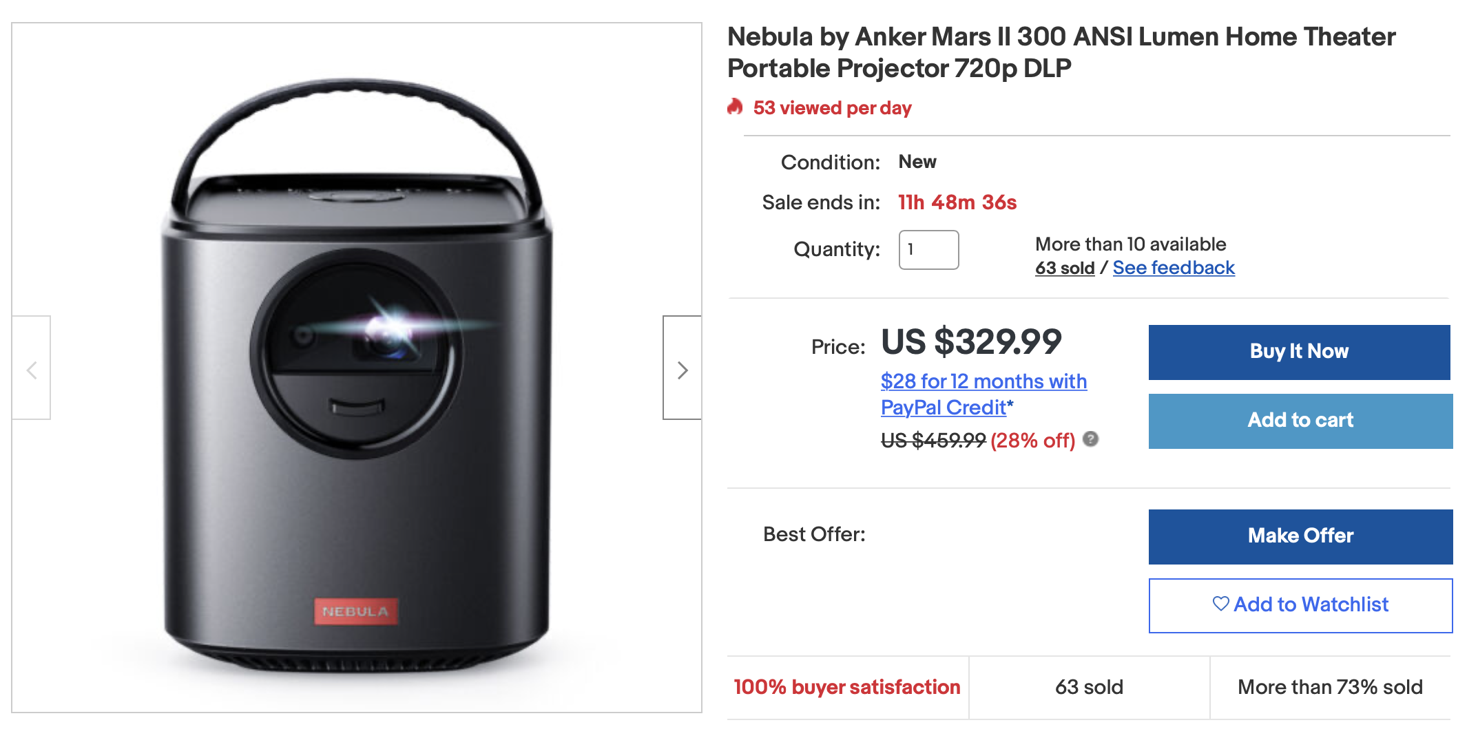 Grab Anker's Nebula Mars II mobile projector for just $330 ($130 off)