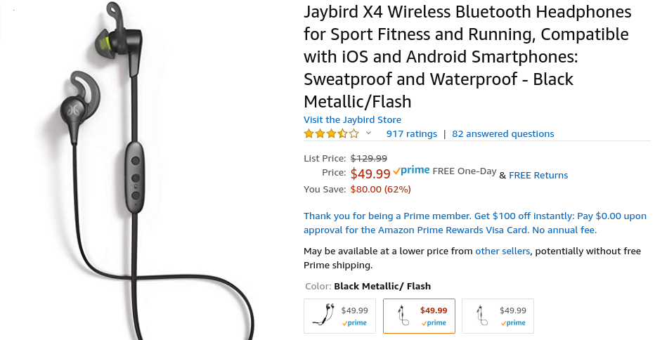 Grab the Jaybird X4 earbuds for just $50 right now on Amazon ($50 off)