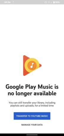 O Google Play Music agora está oficialmente acabado, morto, motinho 2