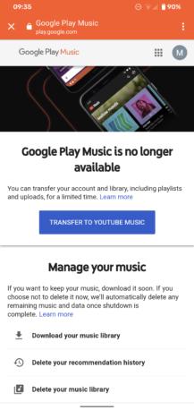 O Google Play Music agora está oficialmente acabado, morto, motinho 1