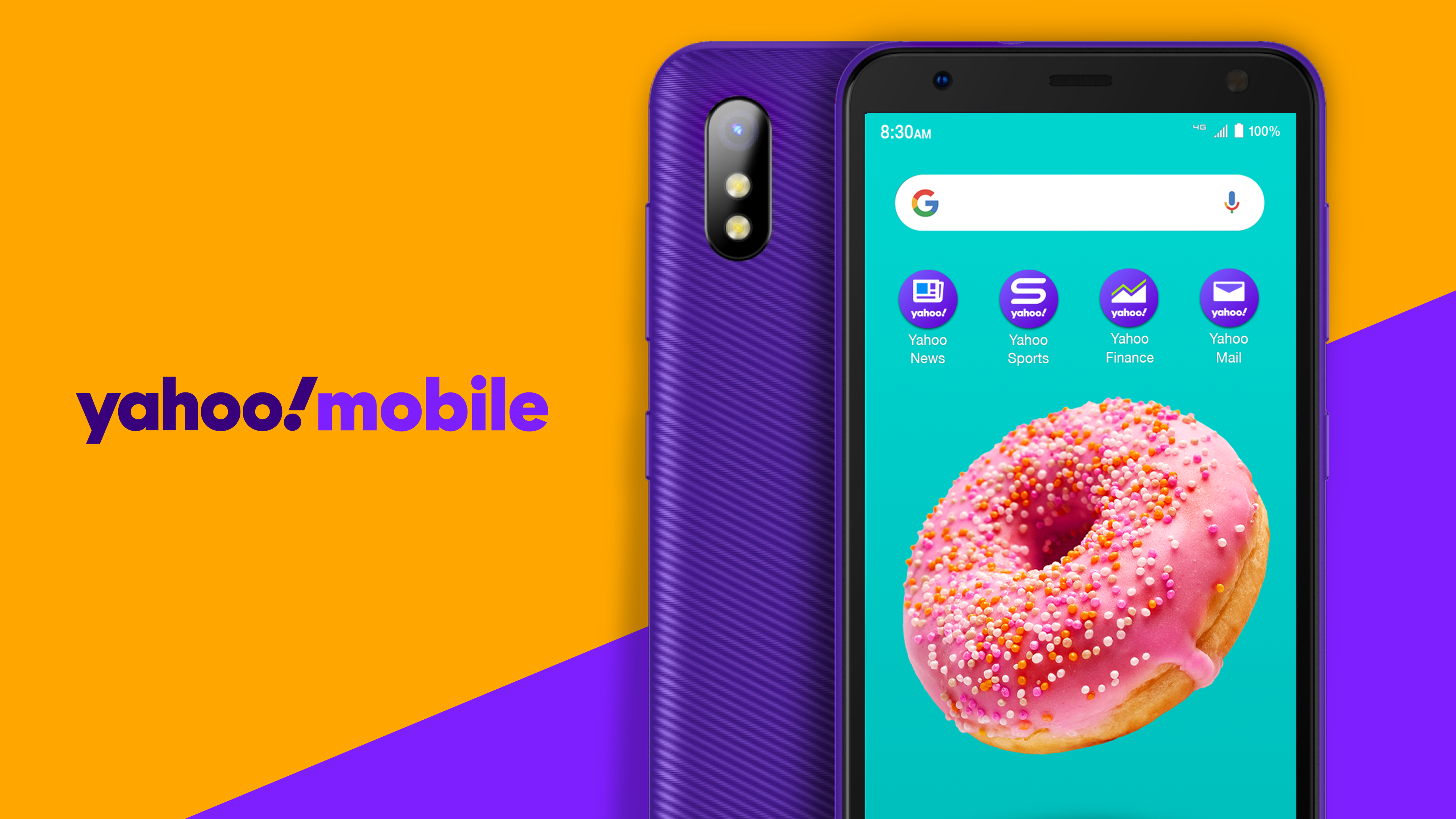 Yahoo! Mobile's first exclusive phone is very purple