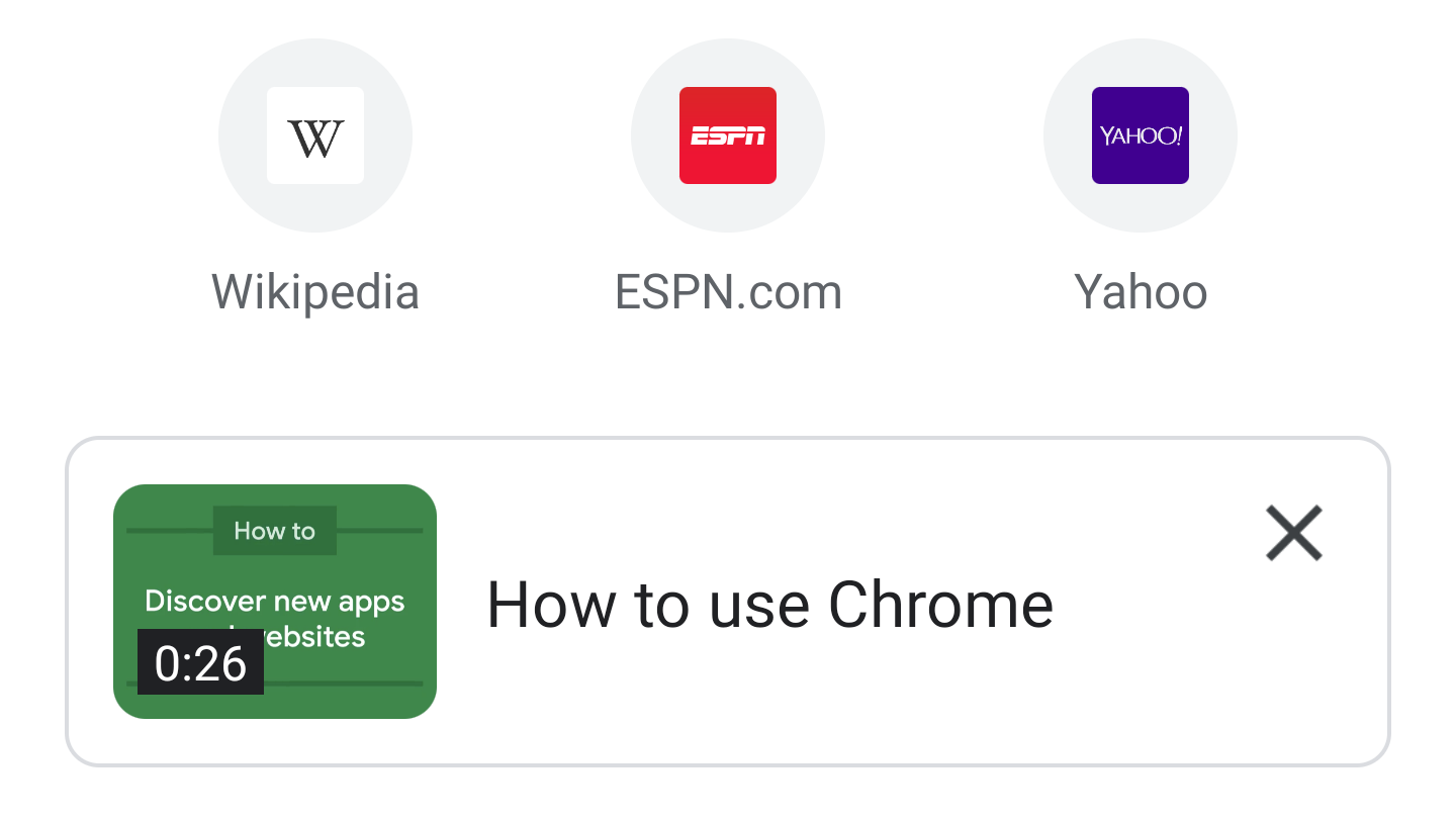 Google is adding tutorial videos to Chrome for Android