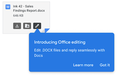 Google Workspace Extends Office Editing to Attachments