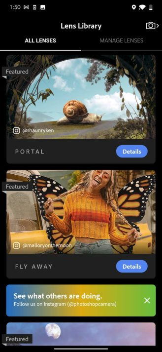 Adobe Photoshop Camera et Effets