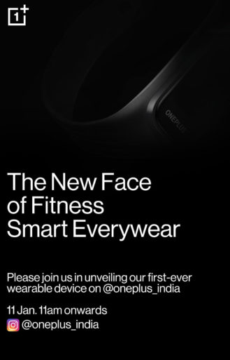 Please join us in unveiling our first-ever wearable device on @oneplus_india, 11 Jan. 11am onwards