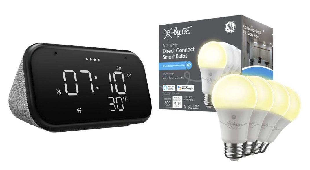 Get Lenovo's Smart Clock Essential and four C by GE smart bulbs for just $30 ($65 off) -