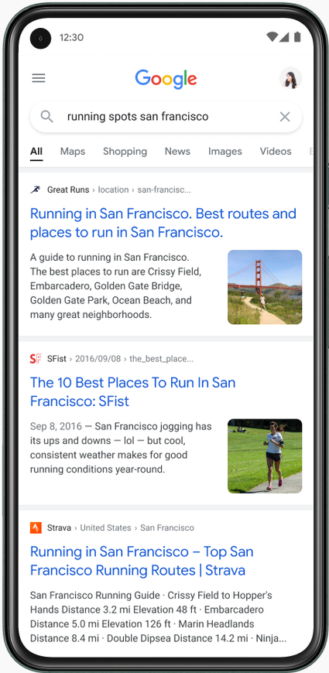 Google details its 'bubblier and bouncier' mobile Search redesign 5