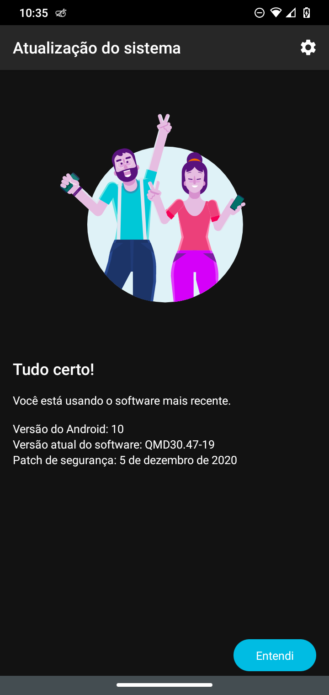Motorola One Macro Android 10