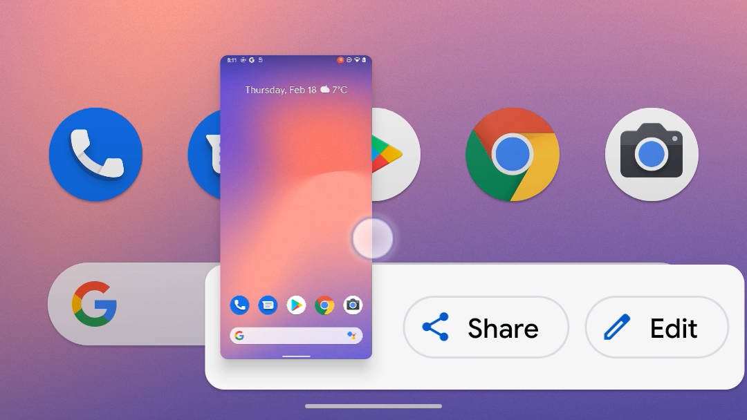 Android 12 lets you swipe to dismiss the screenshot UI thumbnail