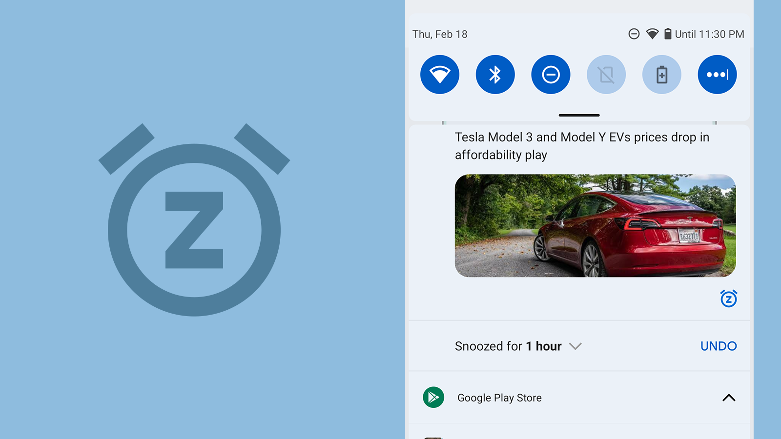 Snoozing notifications becomes more convenient with Android 12