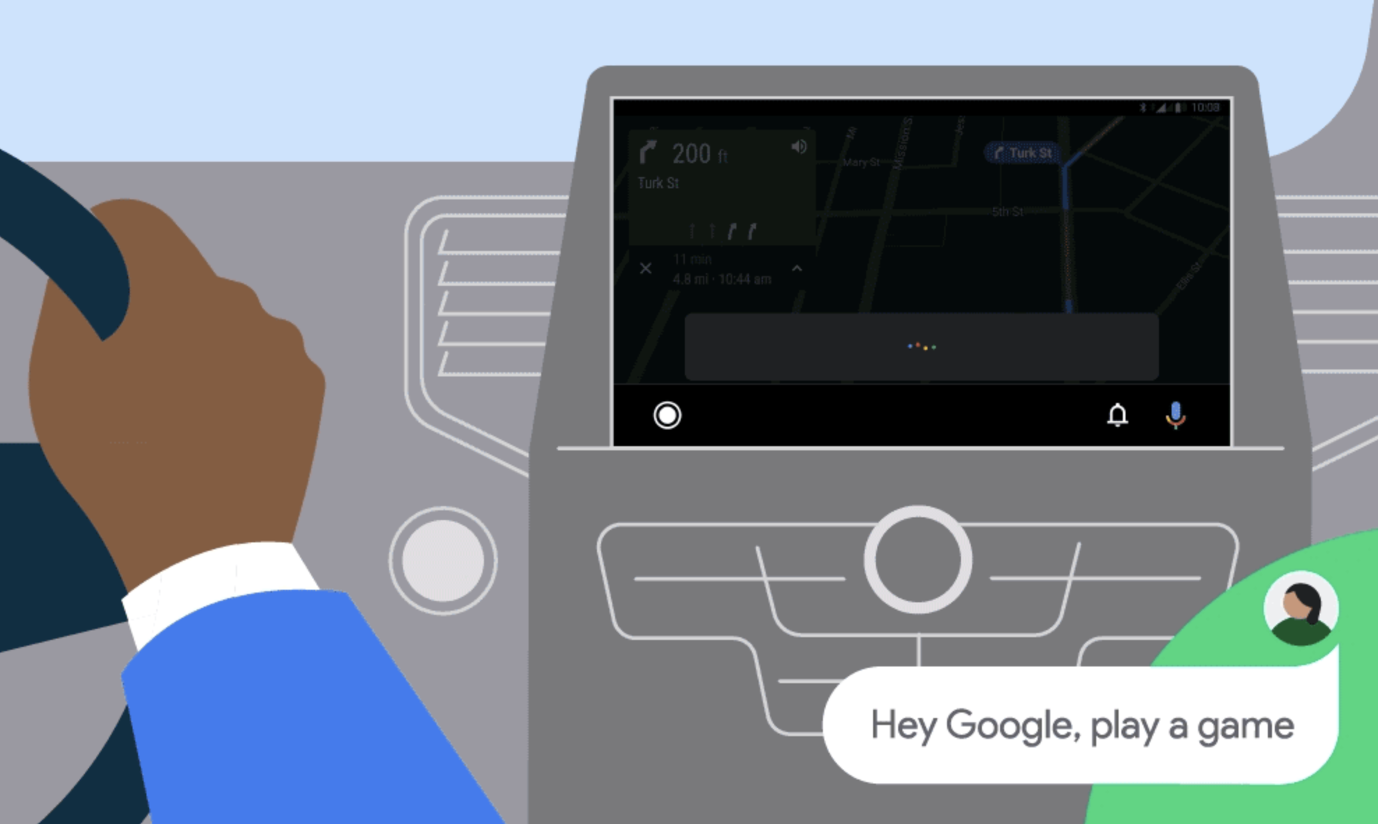 Android Auto is getting road-friendly games and a new privacy mode
