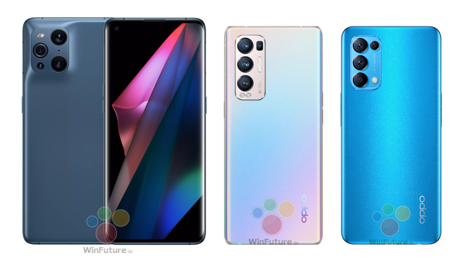 Oppo Find X3 Pro, X3 Neo, and X3 Lite photos and full specs leak ahead of formal debut - Android Police