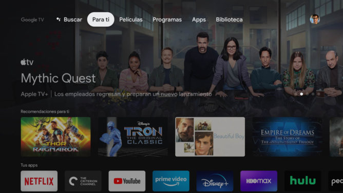 Chromecast with Google TV brings its recommended shows and movies to Spanish-speaking users
