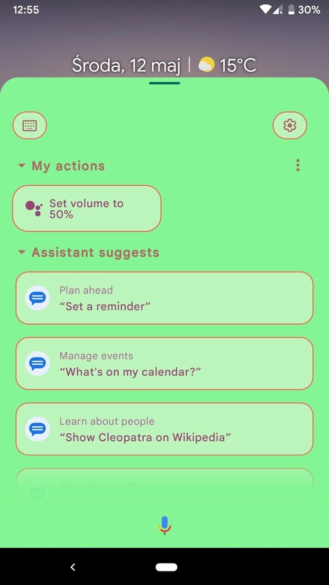 Google Assistant expanded view with colorful backgrounds 1