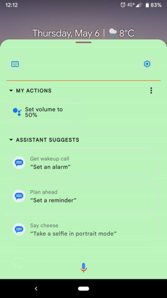 Google Assistant expanded view with colorful backgrounds 2