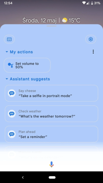 Google Assistant expanded view with colorful backgrounds 3